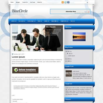 BlueCircle blogger template. template blogspot magazine style. download free template magazine blogger