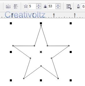 Cara Membuat star line Menggunakan CorelDRAW