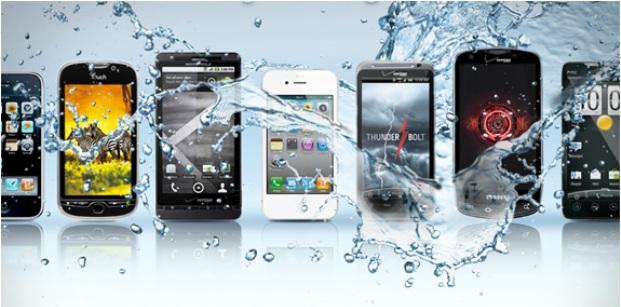 طلاء يمنع تلف iphone عند تعرضه للماء