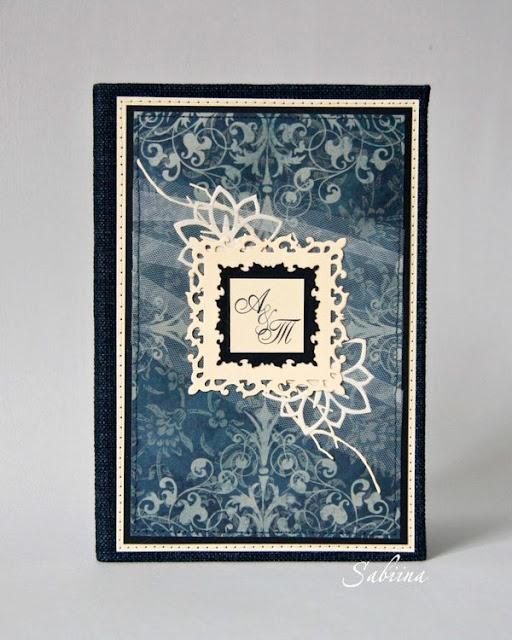 Папка для свидетельства о браке, синий +беж, что одарить на свадьбу, что подарить на годовщину свадьбы, папка для свидетельства о браке своими руками, подарок ручной работы