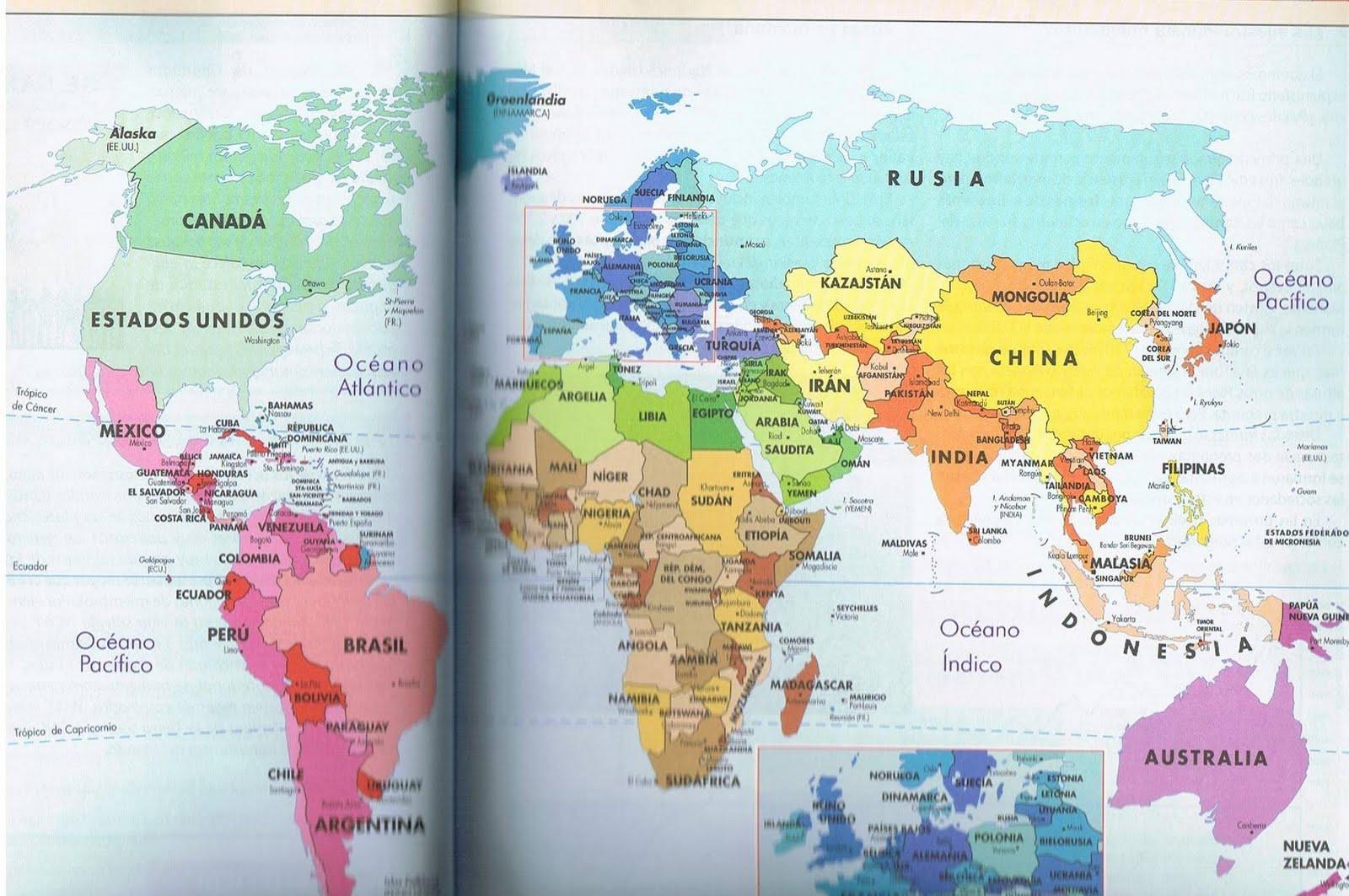 Mapa Planisferio Politico Mudo | Graffiti Graffiti