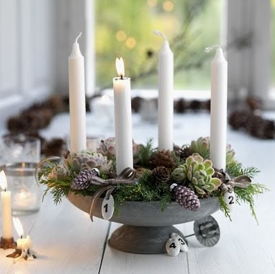 Homestead revival simple natural advent wreath ideas - Pinterest advent ...