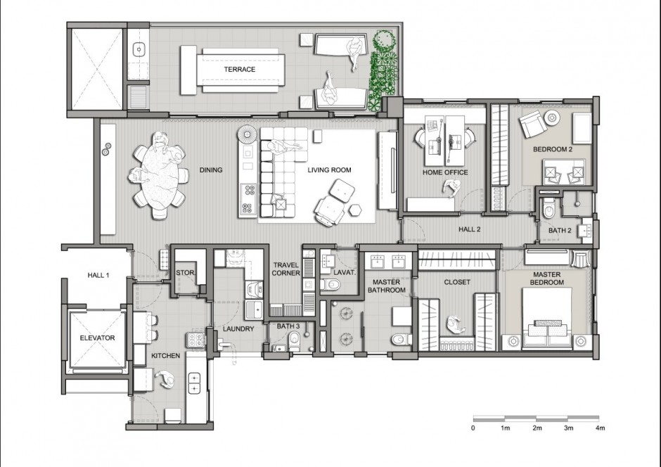 Barra funda i apartment interior by kwartet arquitetura for Tk homes floor plans