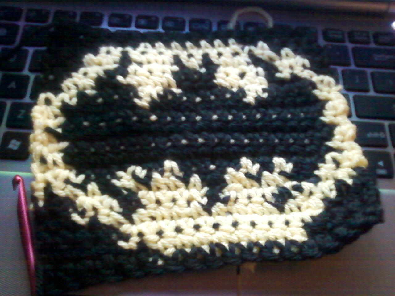 Batman Tapestry crochet- written out pattern instead of the graph