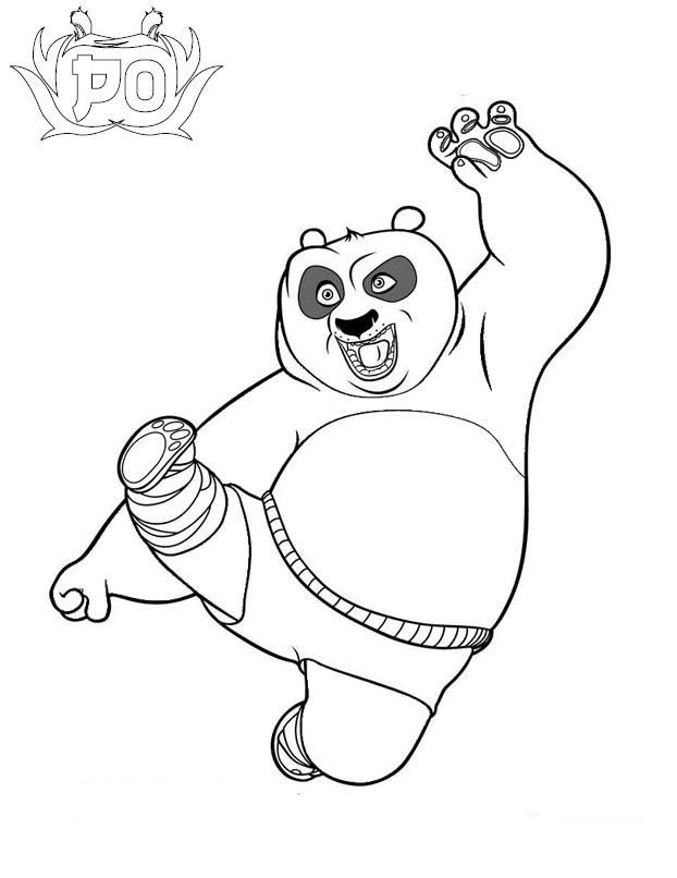 Kung Fu Panda 1 Coloring Pages Panda Coloring Page