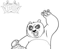 Cute Cartoon Panda Animal Coloring Pages