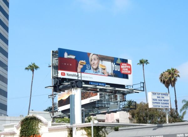 Hannah Hart YouTube taco shell billboard