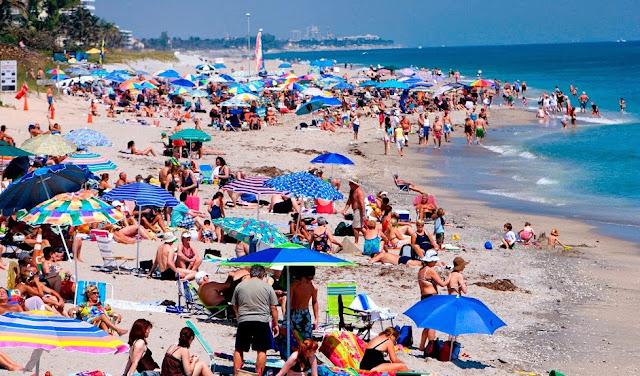 Praia Miami Beach Junho