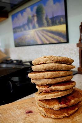 Oatmeal Berry Pancakes