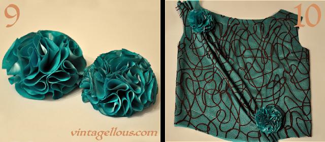 Como hacer flores para vestidos de fiestas