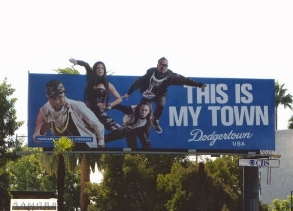 Black Eyed Peas Dodgertown billboard Oct 09