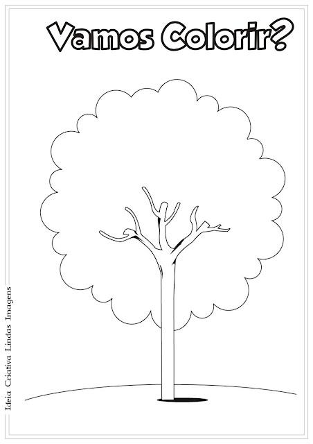 Dia da Árvore para colorir