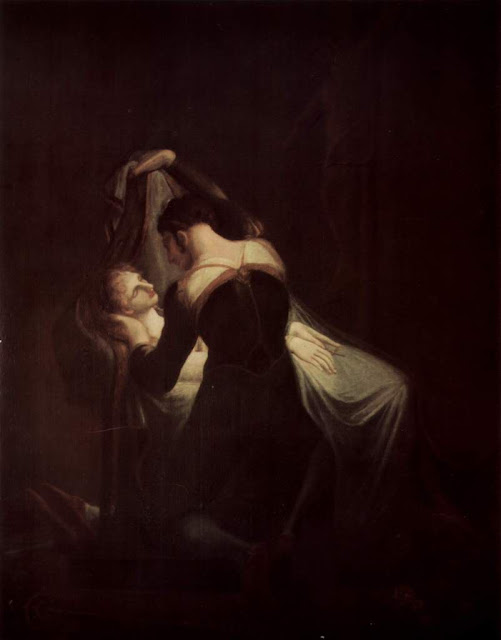 Romeo at Juliet's Deathbed, Henry Fuseli,Shakespeare