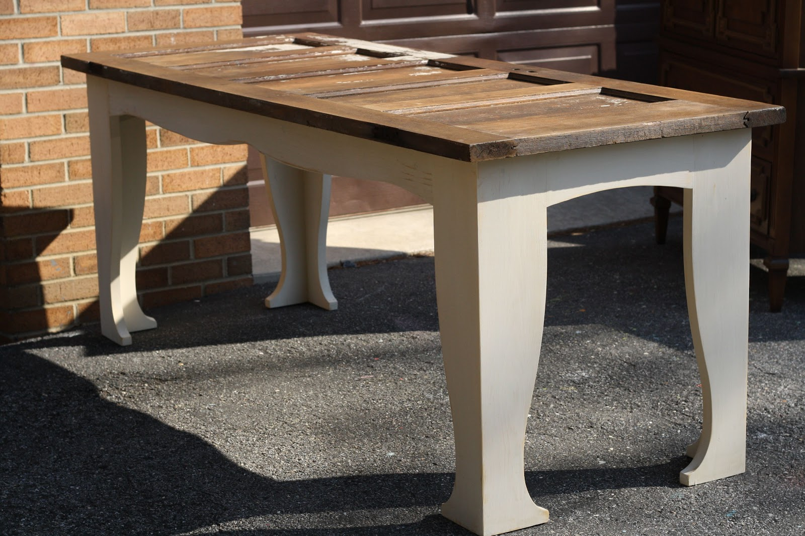 Amazing Door Table I Showed You A Couple Weeks Ago That Travis Built