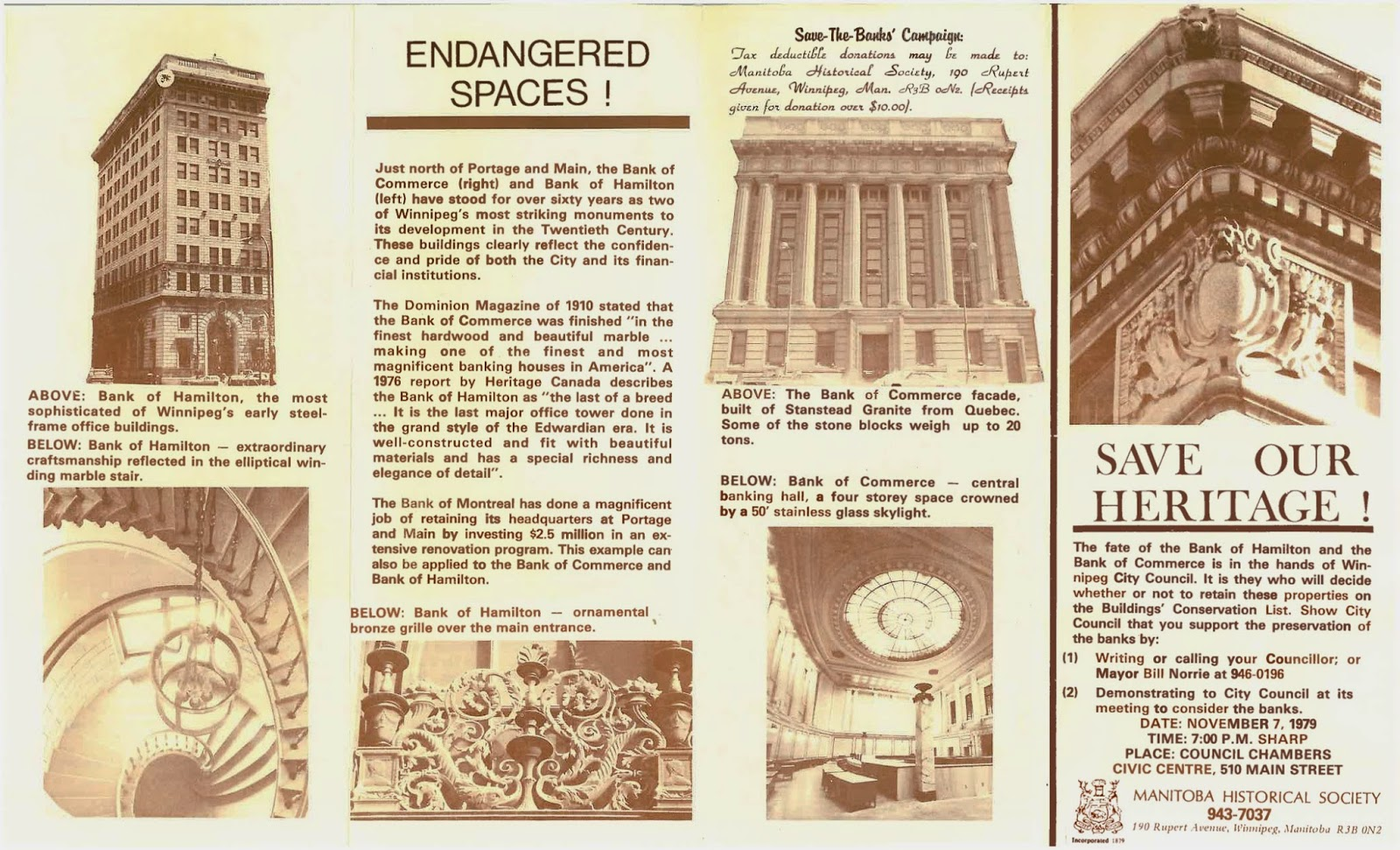 Pamphlet used as part of the effort to save 389 Main