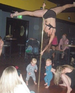 Pole dancing with children