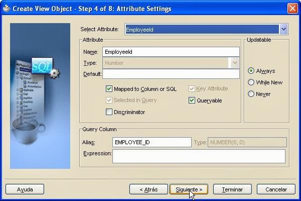asistente attribute settings