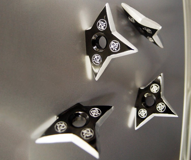 Ninja Throwing Star Fridge Magnets