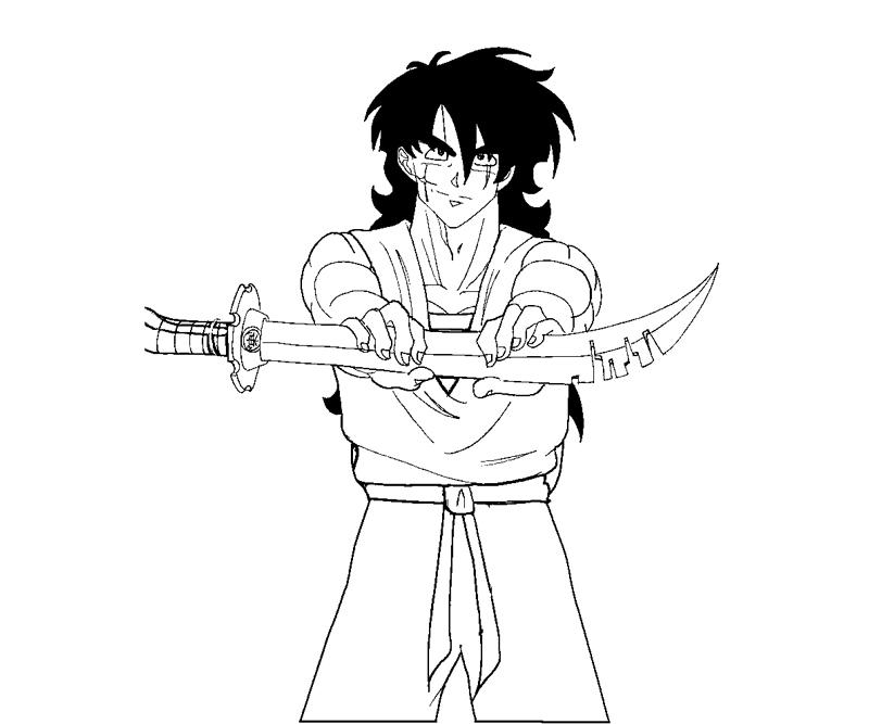 Printable Yamcha 6 Coloring Page