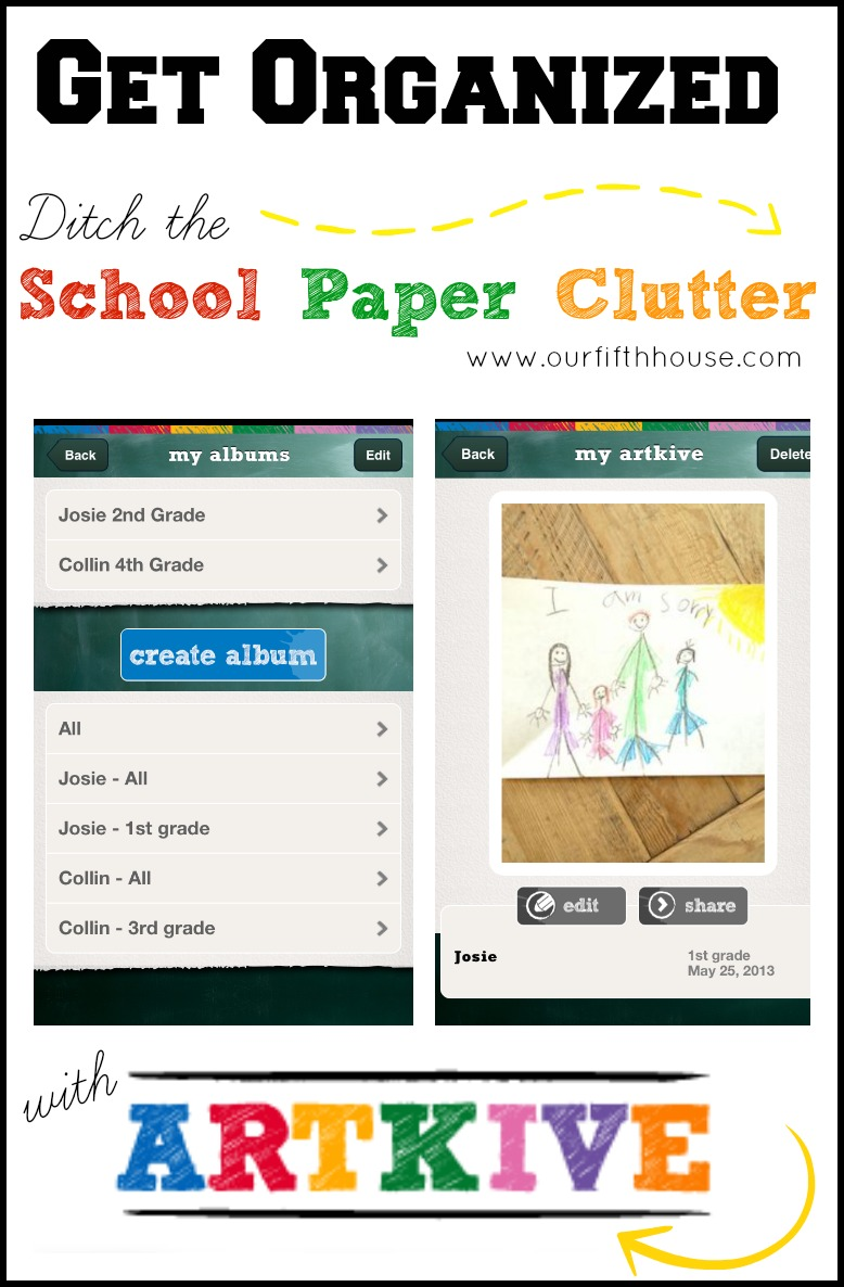 Back to School Organization - An easy way to deal with paper clutter!