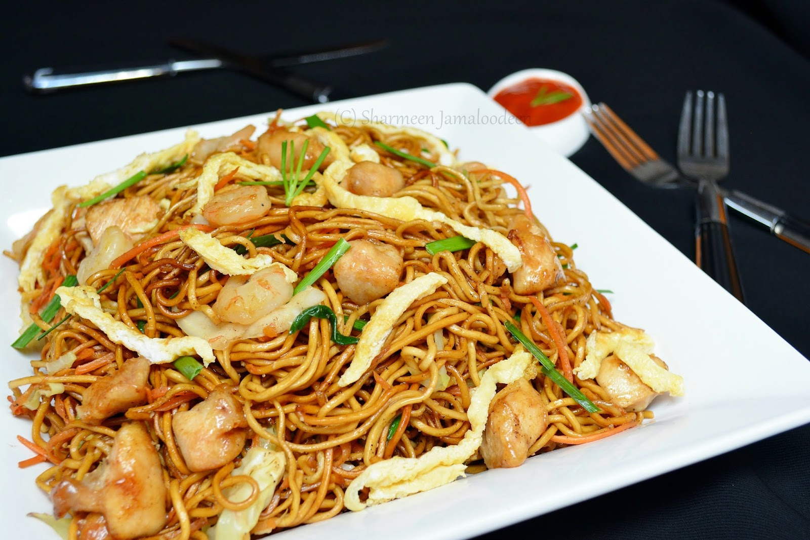 Mauritian fried noodles mine frite special for Cuisine mauricienne