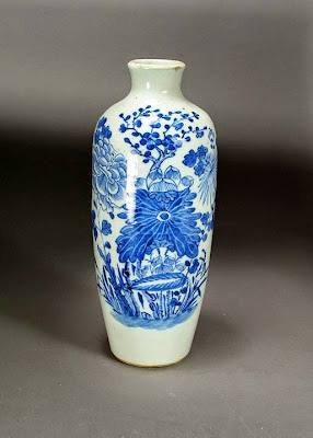 chinese blue and white vase Boston massachusetts collection