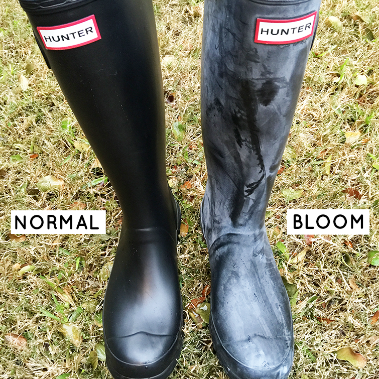 how to clean your hunter boots when they turn white