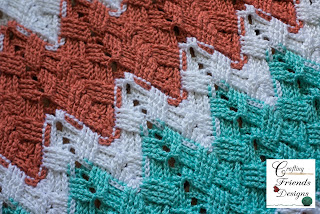 Crafting Friends Designs Basket Weave Afghan