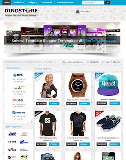 Template Toko Online Blogger DinoStore Keren Terbaru