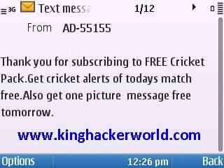 Free cricket alert airtel