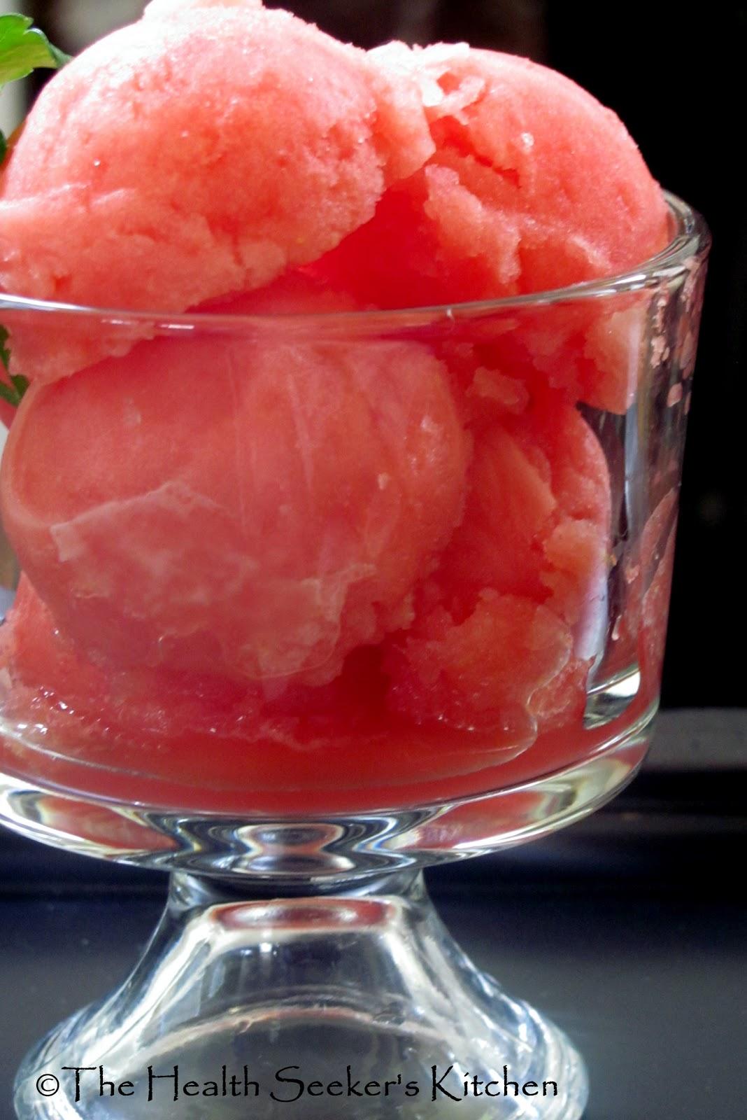 The Health Seekers Kitchen: Raw Watermelon Italian Ice