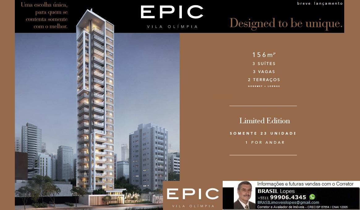 EPIC Vila Olimpia Apartamentos_156m²_3 suítes_3 vagas_Alto Padrão_Rua Quatá, Vila Olímpia-São Paulo