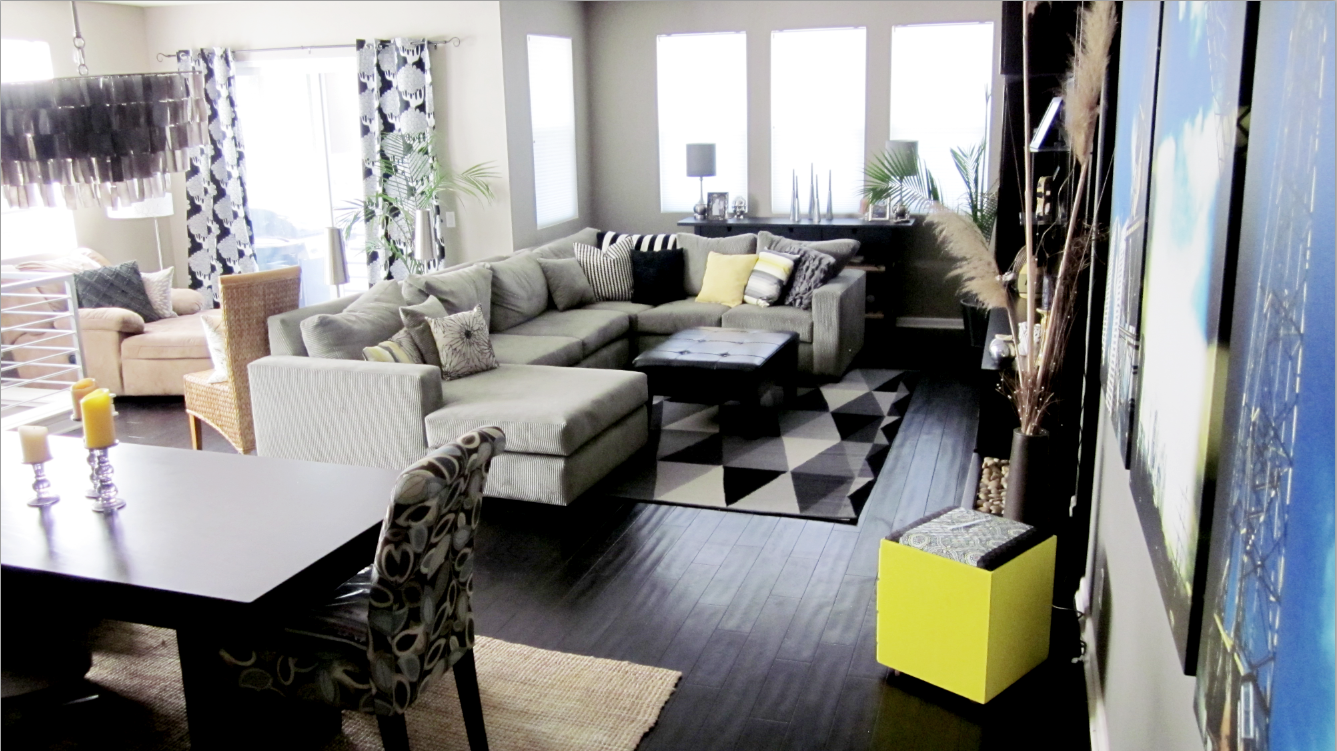 Cole Barnett: Neutral, Black, and White Living Room with
