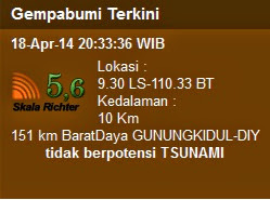 gempa jumat 18 april 2014