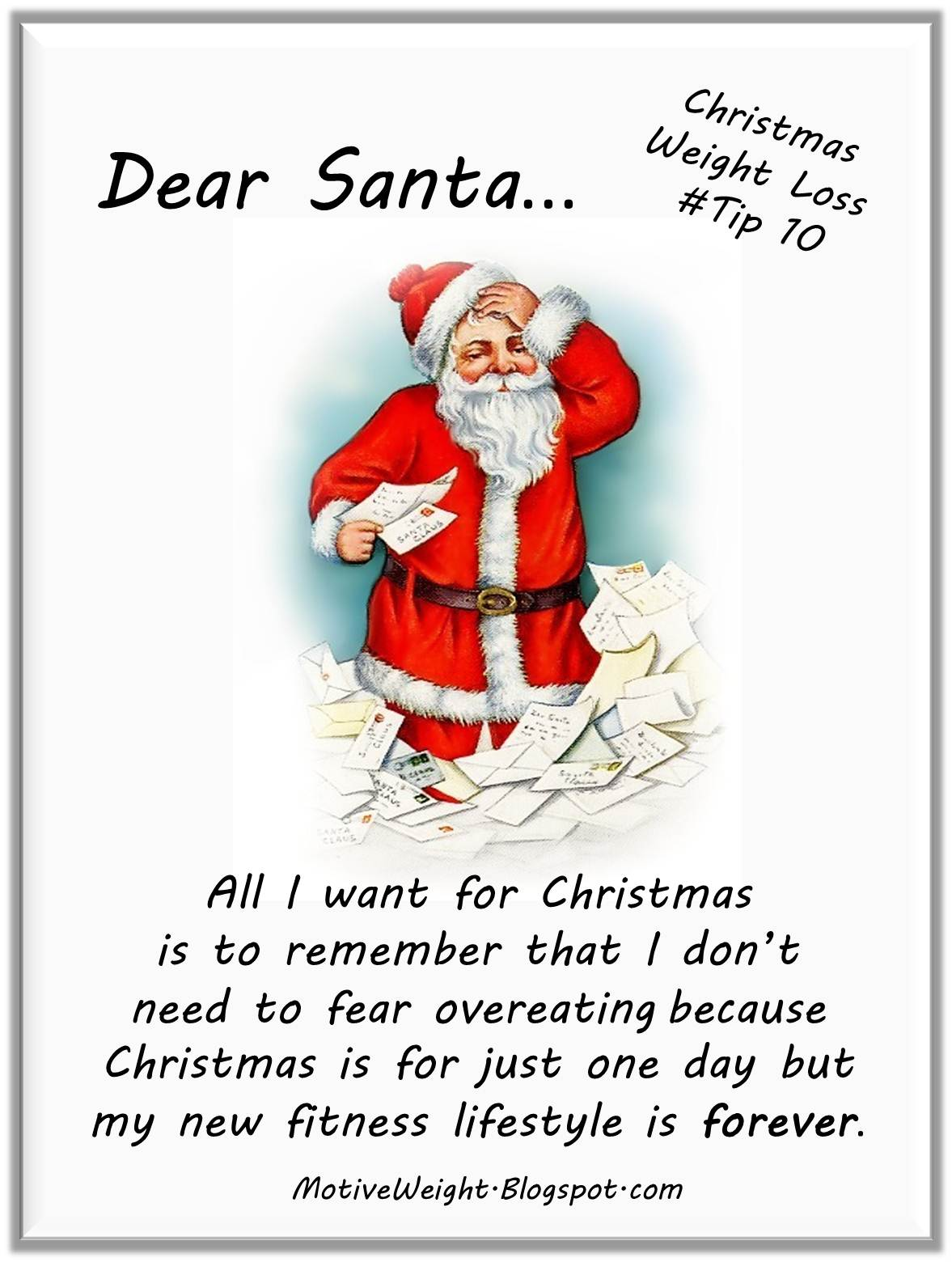 MotiveWeight: Christmas Weight Loss Tip # 10