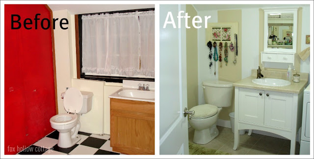 DIY Low Budget Bathroom Makeover Refresh - Basement bath renovation