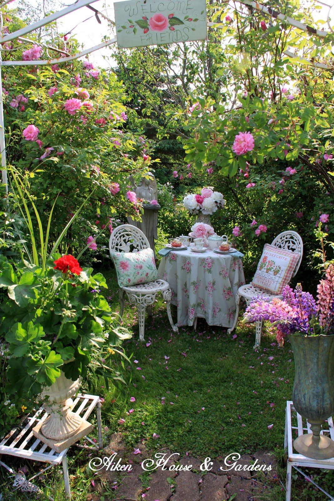 Aiken House Gardens Rose Garden Tea