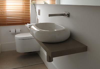 cubas para banheiro branco