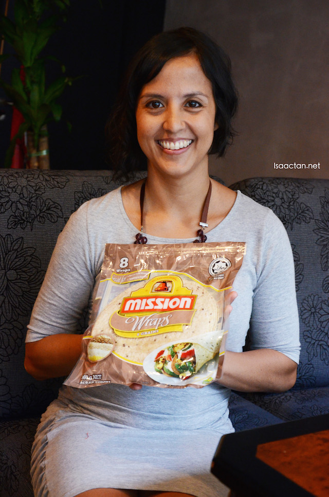 Marissa Parry with the Mission 6-Grain Wrap