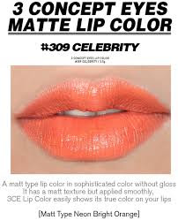 3CE Pink Lip Color Matte 309 Celebrity ORIGINAL