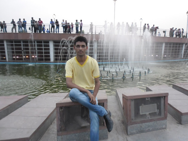 Anshu Dikshant at Central Park in Connaught Place, New Delhi