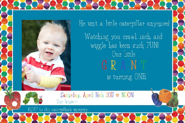 Hungry Caterpillar Invite was awesome invitation template