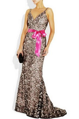 Sequined tulle and silk-chiffon gown
