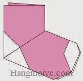 Bước 14: Hoàn thành cách xếp đôi tất, vớ bằng giấy theo phong cách origami