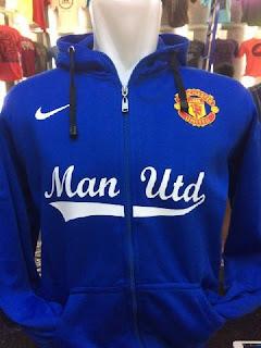 gambar photo kamera jaket hoodie Manchester United terbaru warna biru musim 2015 enkosa sport