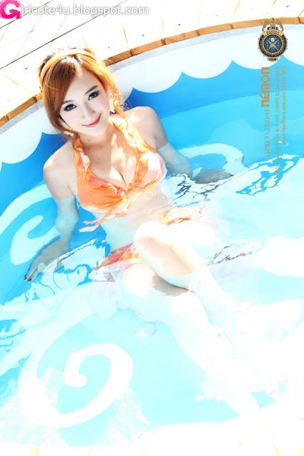 Sun-Xin-Ya-Orange-Bikini-04-very cute asian girl-girlcute4u.blogspot.com