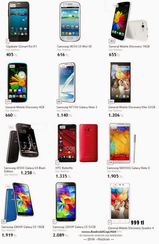 ön+kameralı+android+telefonar