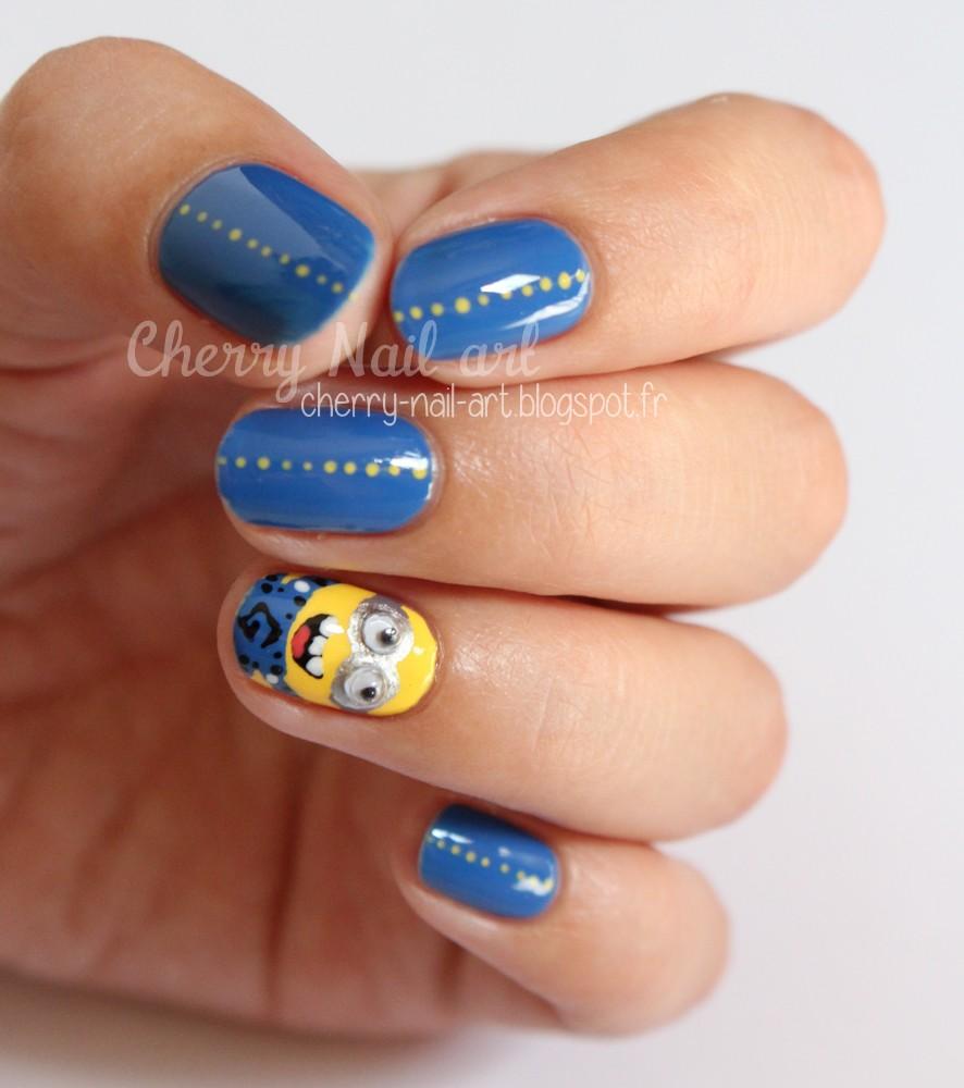 nail art minions facile au vernis