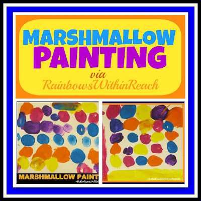 photo of: Marshmallow Painting via RainbowsWithinReach