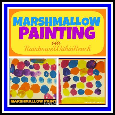 photo of: Marshmallow Painting via RainbowsWithinReach